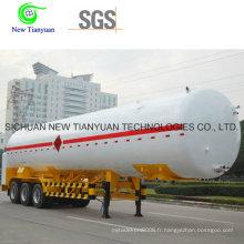 Réservoir de gaz naturel liquéfié de 55,6 m3, semi-remorque à gaz de GNL