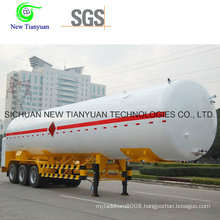 55.6m3 Liquefied Natural Gas Tank, LNG Gas Tank Semi-Trailer