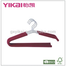 EVA foam padded chrom plated iron metal hanger