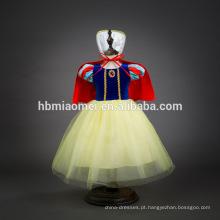 Desgaste do partido de neve branco vestido de cosplay filme traje menina vestido de princesa para a festa