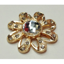 Flores Rhinestone Alloy Shoe Buckles