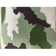 CVC ripstop cotton polyester blend woodland camouflage fabric 200gsm Qua
