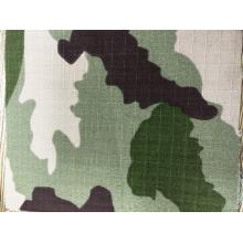 CVC ripstop algodão poliéster mistura camuflagem da floresta tecido 200gsm Qua