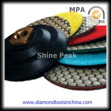 Almofada de polonês de velcro de diamante para polimento de pedra de mármore de granito