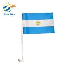Polyester Flagge benutzerdefinierte Argentinien nationalen Auto Flagge