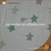 Cuadrados de muselina de bambú natural 100% naturales de lujo