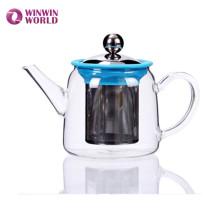 Горячая Продажа Боросиликатного Стеклянный Чайник С Infuser Нержавеющей Стали Малый