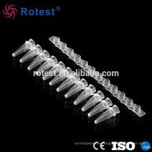 0,2-ml-12-Streifen-PCR-Röhrchen mit optischer Flachkappe