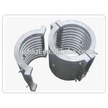 Molde de aluminio refrigerado por líquido fundido en el calentador