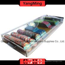 Bandeja de alta qualidade acrílico Handle Chip com bloqueio (YM-CT09)