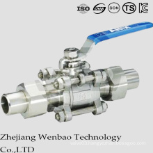 3PC Casting Prolonged Butt Welding Floatiing Ball Valve with Lock