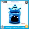 Blue Pot Design and Potpourri Wax Oil Burner Vaporizer