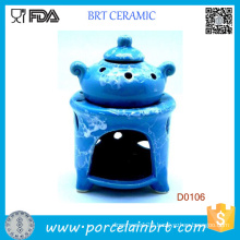 Blue Pot Design and Potpourri Wax Oil Burner Vaporizer