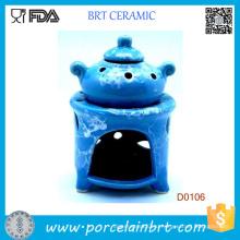 Дизайн синий горшок и Попурри воск масло испаритель горелки