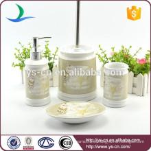 Regalo determinado del baño de cerámica del hogar moderno 4pcs con la etiqueta