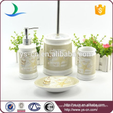 4pcs modern houseware ceramic bath set gift with decal