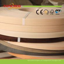Borda de borda de PVC de cor de grão de madeira