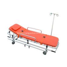Foldable Orange Hospital Aluminum Ambulance Stretcher