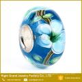 2016 nuevo lujo DIY pulsera color Europea bolas de Murano Lampwork