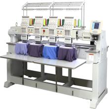 Chapeau, plat, machine à broder de t-shirt avec 4 têtes 12 couleurs machine de broderie informatisée