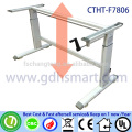 international businese machine table for company manual crank adjustable height office table frame in 2 legs