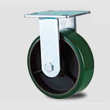 H20 Heavy Duty Type fixe Double bille Green PU sur Iron-Core Caster