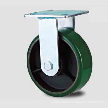 H20 Heavy Duty Fixed Type Double Ball Green PU on Iron-Core Caster