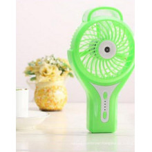 Portable Charging atomizing USB mini fan with 3 level wind speeding-Green