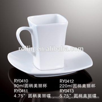 Square Coffee Cup, ceramic Espresso Cup, Microwave safe Cup for Hotel & Restaurant