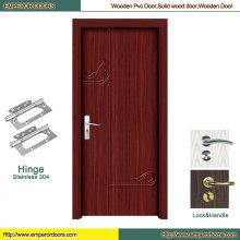 Porte en bois de porte de PVC de porte de PVC de chambre à coucher