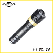 Rechargeable Aluminium Flashlight for Camping Lighting (NK-2668)