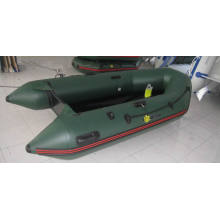 Marinhos jangada inflável de PVC verde militar