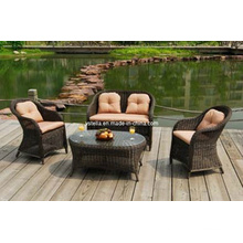 Patio Outdoor Rattan Garden Wicker Sofa Furniture