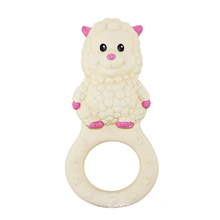Sheep Shaped Rubber Teether Toy, Rubber Teethers, Baby Rubber Teethers Toy