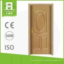 Puerta de madera de encargo del pvc interior del proveedor de China con el precio más barato de yongkang zhejiang
