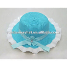 fashion little baby girl straw hats to decorate for girls