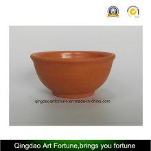 Tazón de cerámica de arcilla natural al aire libre-Medio