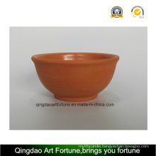 Outdoor-Natural Clay Ceramic Bowl-Medium