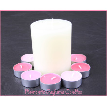 Romantic Perfume Candles, Scented Glass Jar Candle with Snowflake,  98% Pareffin Wax