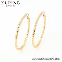 95111 Atacado moda feminina jóias estilo indiano simples design de ouro rodada brinco