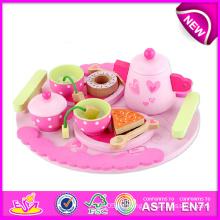 Qualitäts-hohes neues Tee-Spielzeug-Set, vortäuschen Spiel-Tee-Satz-Spielzeug für Kinder, hölzernes Spielzeug-Tee-Satz-Spielwaren für Kinder, hölzernes Tee-Satz-Spielzeug W10b092