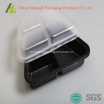 Contenedor de alimentos con microondas de 3 compartimentos