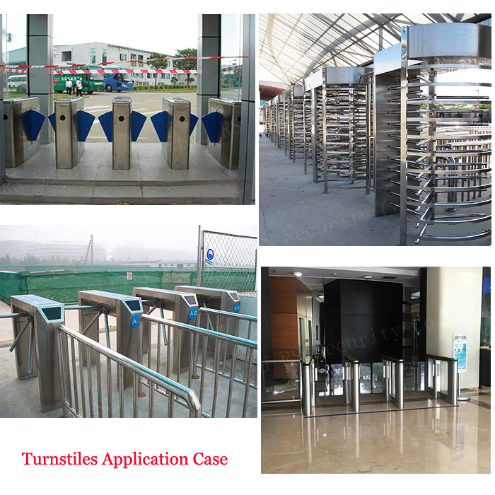 Semi Auto Waist Height Turnstile