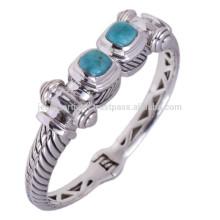 Gorgeous Turquoise Turquoise Gemstone & 925 Bracelets Vintage Vintage Style pour cadeau d'anniversaire