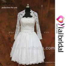 RSW87 vestido de casamento curto com bolso de inserção