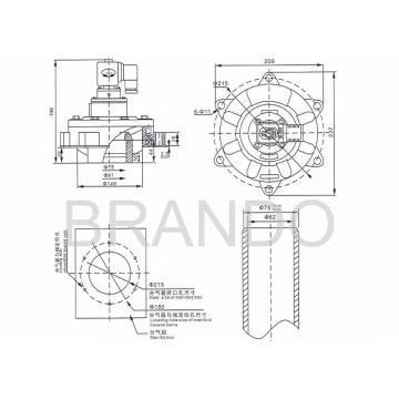 En línea solenoide válvula de pulso DMF-Y-62