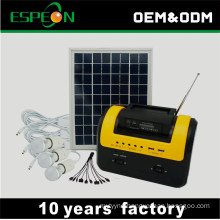 For home lighting 10W 12V portable solar home system