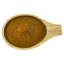 Corte de saquinho de chá de raiz de cúrcuma orgânica