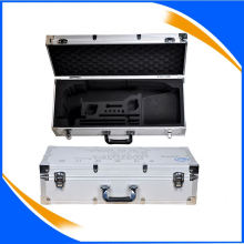 aluminum profile waterproof shell cigarette case gift set with lock and handle