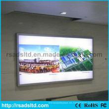 Caja de luz de señal de aluminio de tela al aire libre